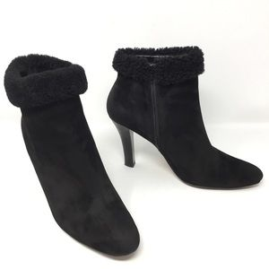 Brooks Brothers Genuine Suede Sherpa Ankle Boots